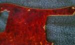 Relic aged Vintage Red Spitfire Tortoiseshell Pickguard PBass1